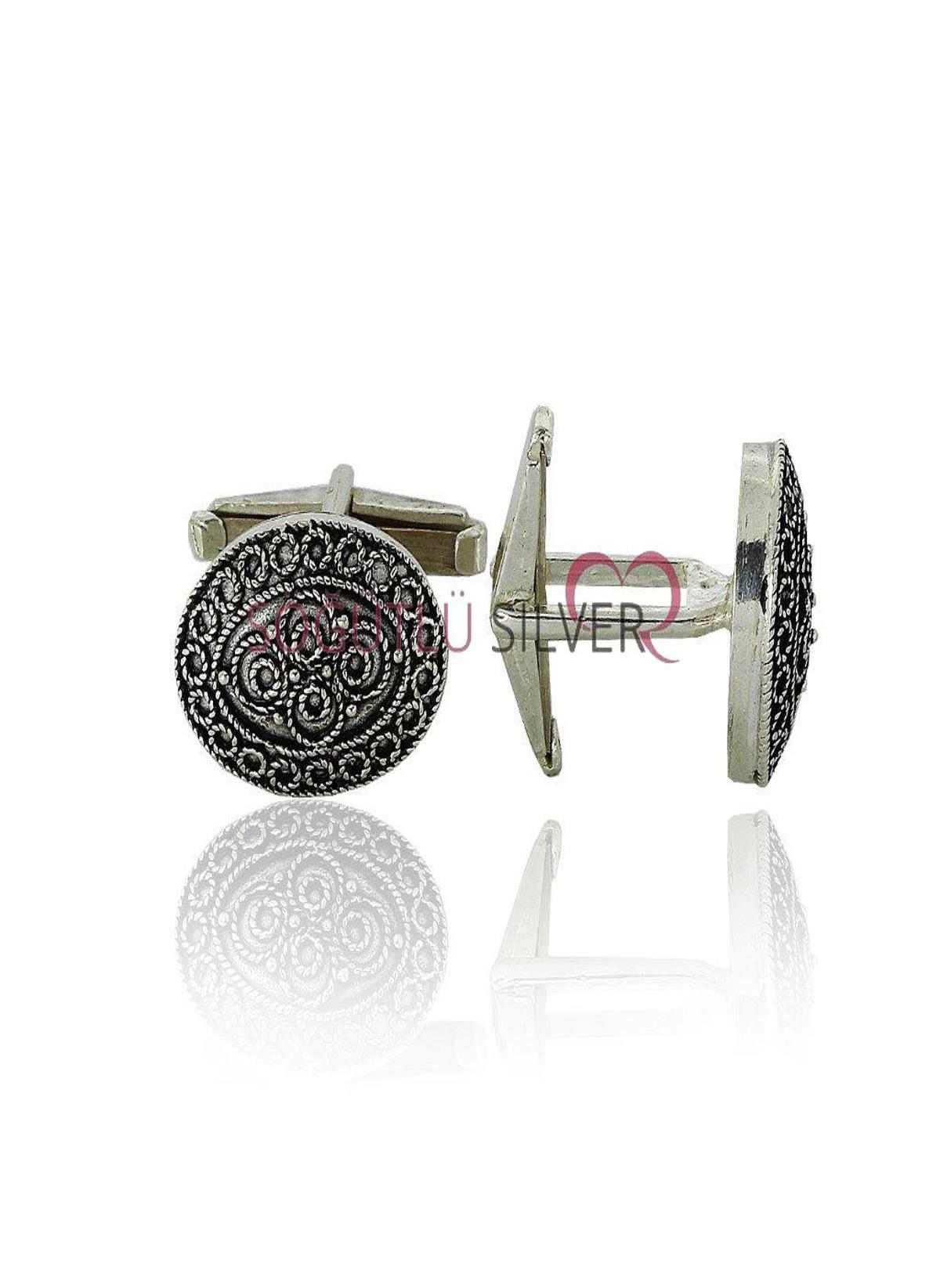 Kadın Söğütlü Silver Kol Düğmesi